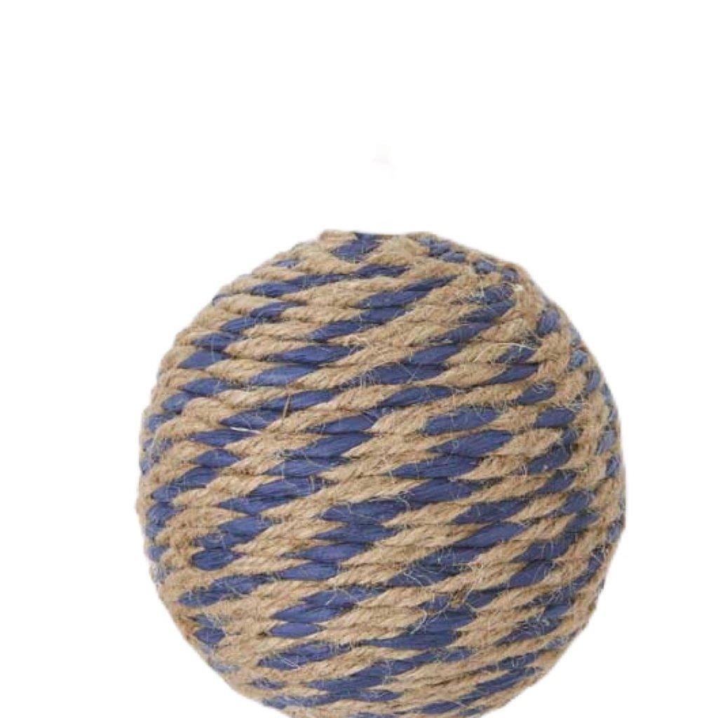 "K&K Blue and natural rope ball - 6"""