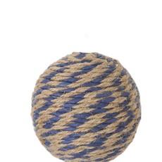 "K&K Blue and natural rope ball - 4"""