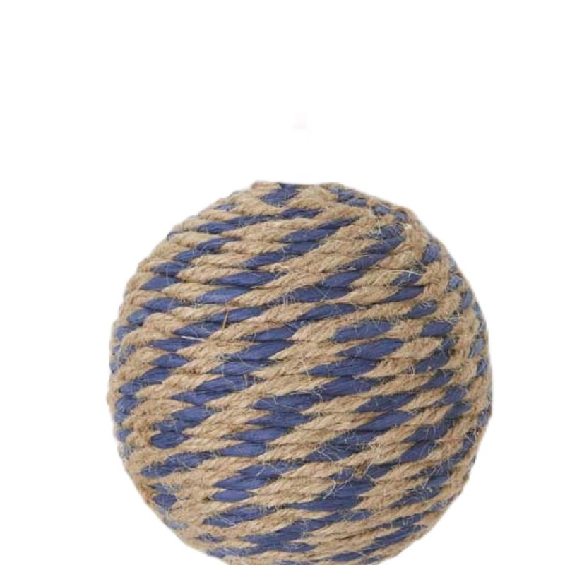 K&K Blue and natural rope ball - 4""