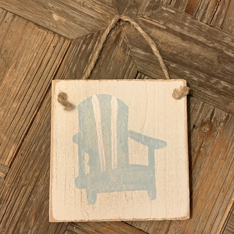 Wood Hanger - Beach Chair - Palladian Blue