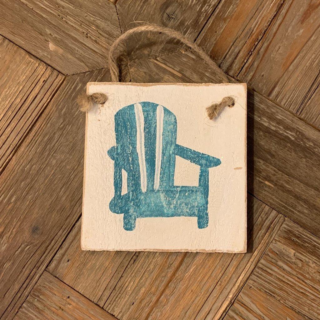 Wood Hanger - Beach Chair - Sea Wave