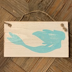 Wood Hanger - Mermaid - Sea Wave
