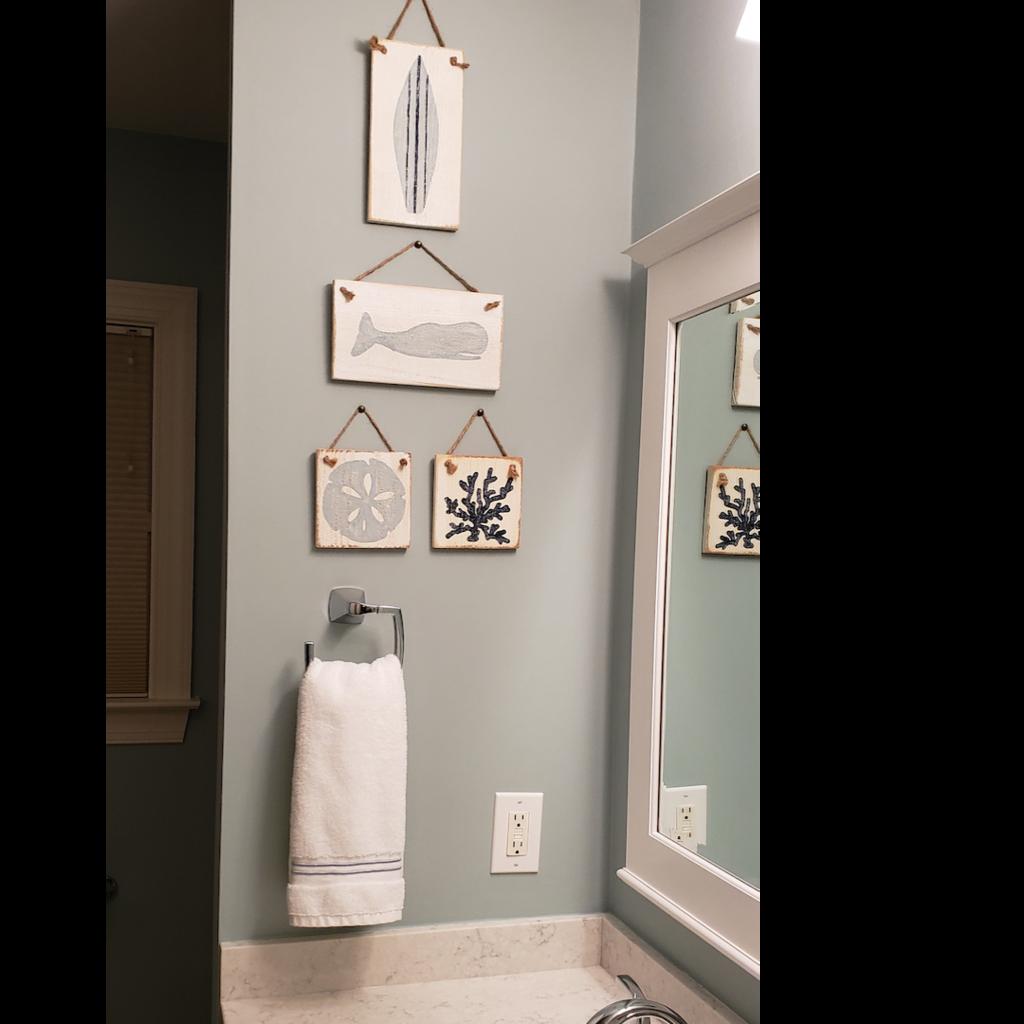 Wood Hanger - Whale Tale - Palladian Blue