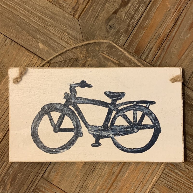 Wood Hanger - Lg Navy Beach Cruiser