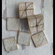 NJ Engraved Coasters - Set of 4