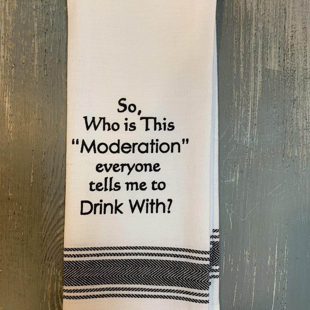 Wild Hare Designs White Cotton Towel - So, who is this moderation....