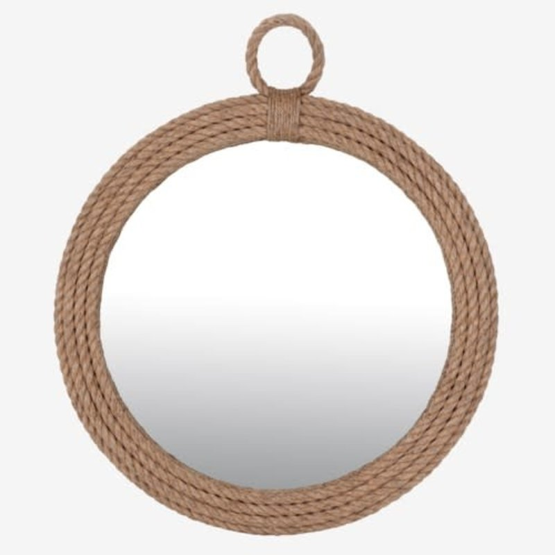 The Garret Round Rope Mirror