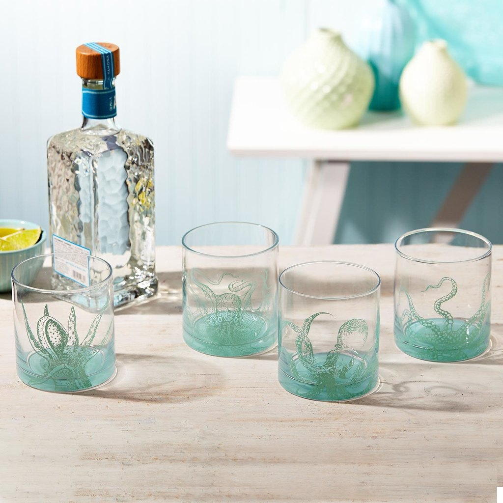 The Garret Octopus Double Old Fashion Glass
