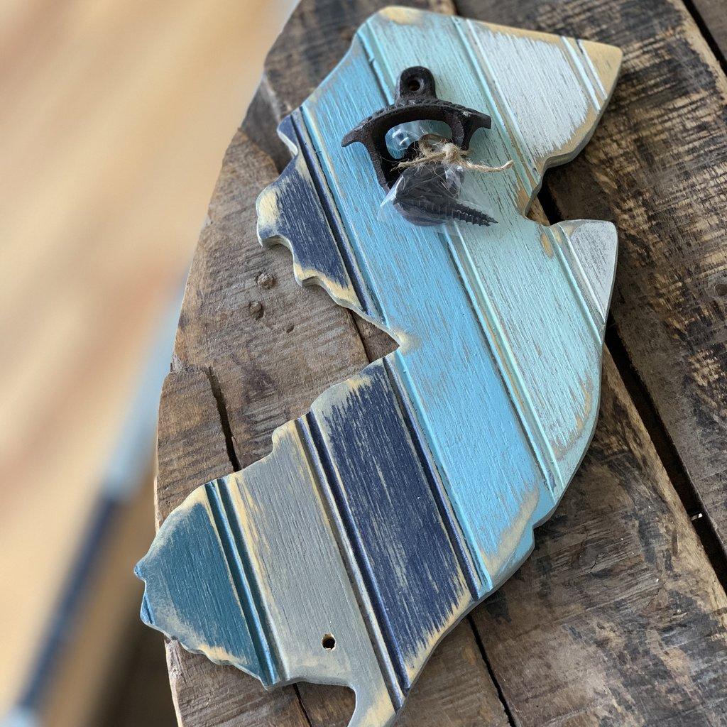 The Garret NJ Striped bottle opener