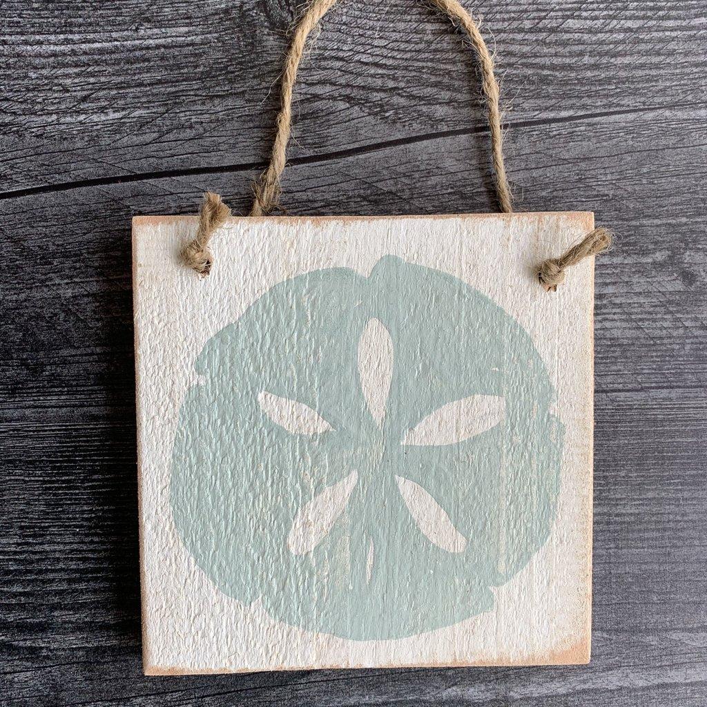 Wood Hanger - Sand dollar - Palladian Blue