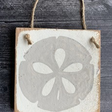 Wood Hanger - Sand dollar - Weathered Wood