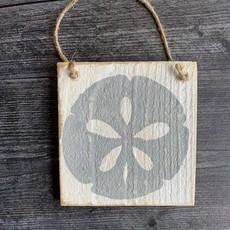 Wood Hanger - Sand dollar - Marina Gray