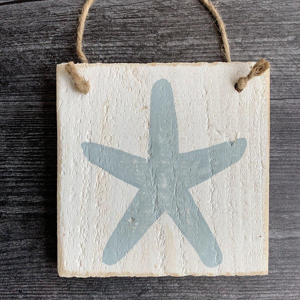 Wood Hanger - Starfish - Yarmouth Blue