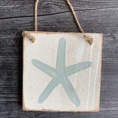Wood Hanger - Starfish - Palladian Blue