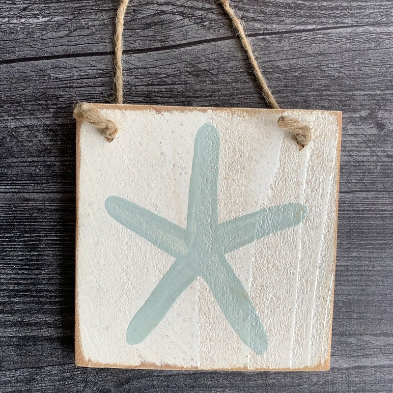 Wood Hanger - Starfish - Palladian Blue