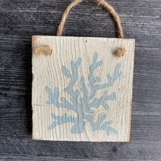 Wood Hanger - Coral - Yarmouth Blue