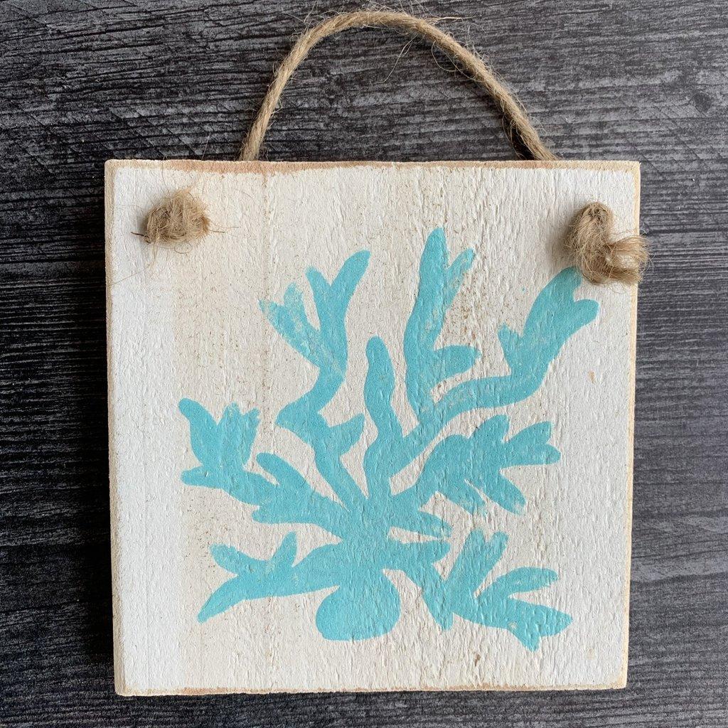 Wood Hanger - Sand dollar - Sea Wave