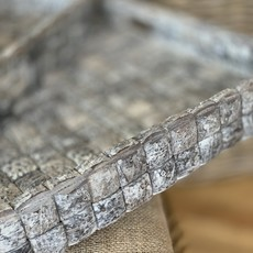 The Garret Coconut Tray-Fog Grain-Sq.- M
