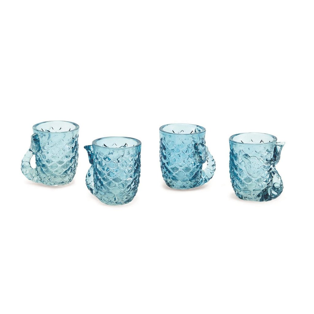 The Garret Set of 4 Mermaid Shot Glasses