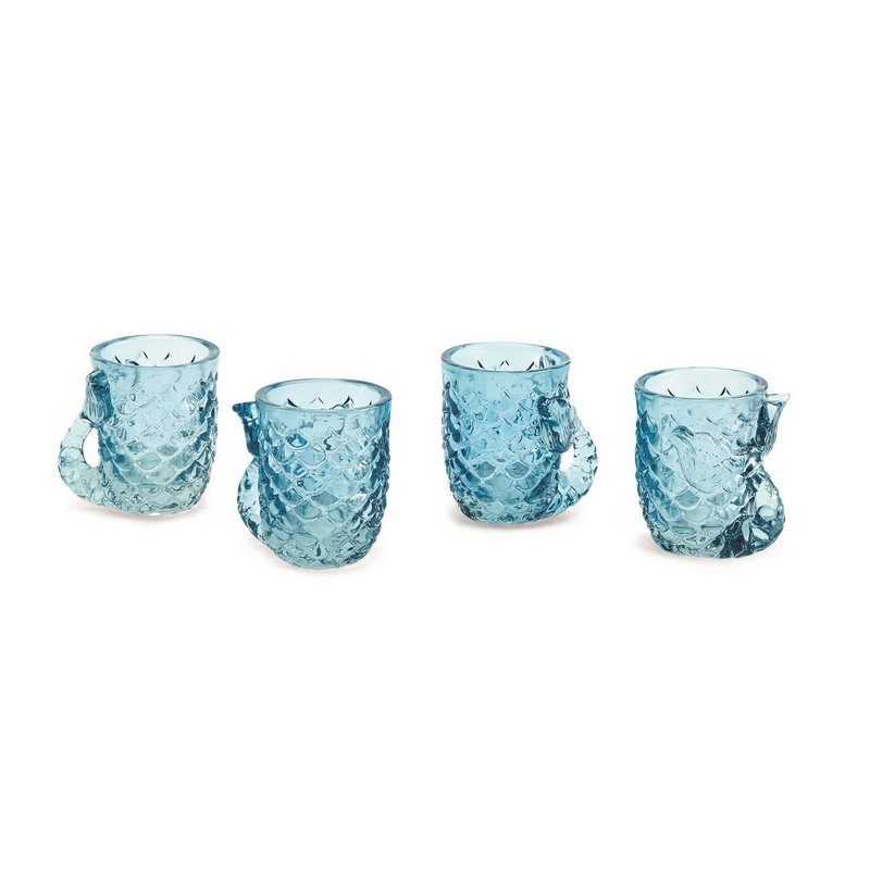 The Garret Set of 4 Mermaid Shot Glasses
