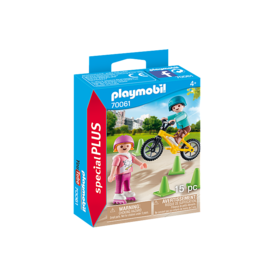 Playmobil Children with Skates & Bike