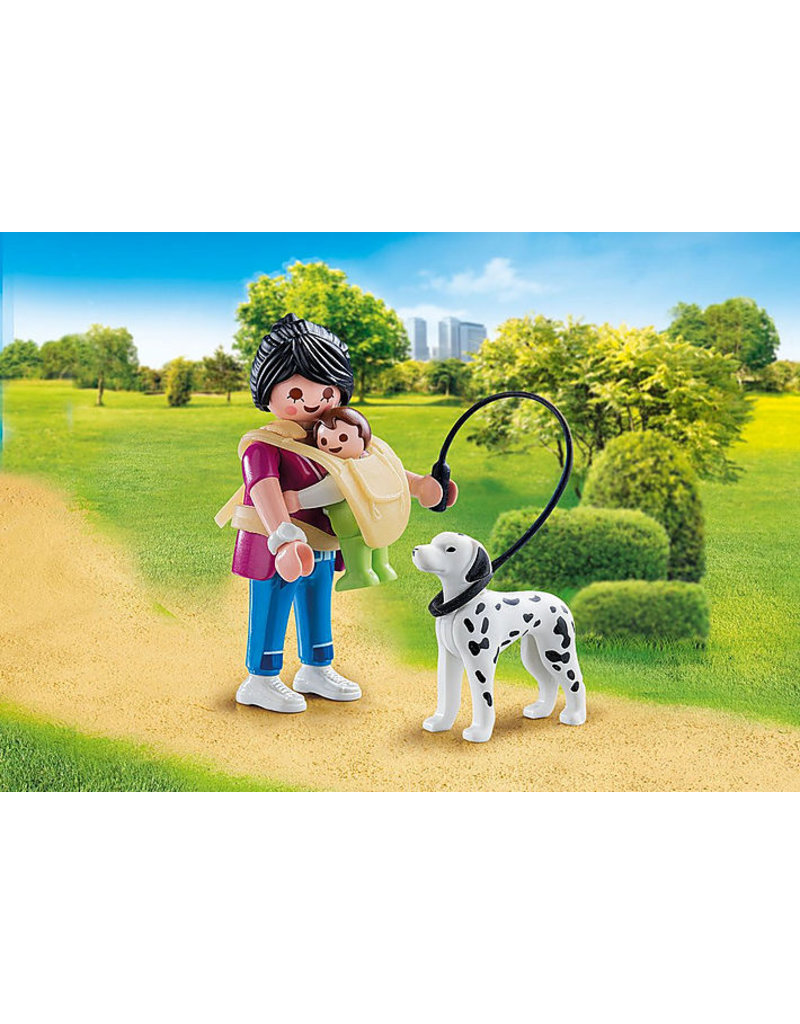 Playmobil Playmobil Mother with Baby and Dog
