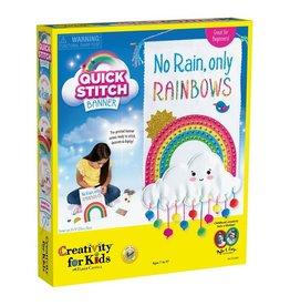 Quick Stitch Banner Rainbow