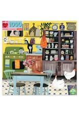 eeBoo Kitchen Chicken 1000pc Square Puzzle