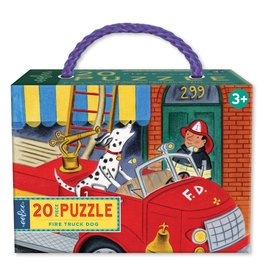 eeBoo Fire Truck Dog 20pc Puzzle