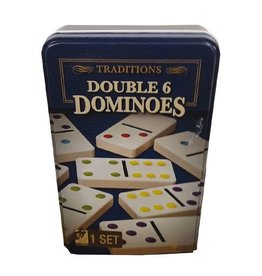 Double Dominoes 6 in Tin