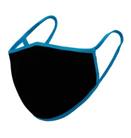 Urban X Apparel Face Mask Urban X Adult Black with Teal Lining