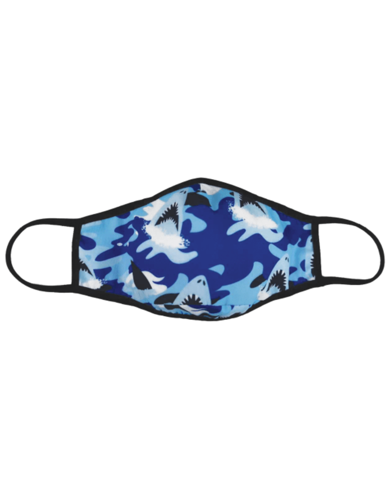 iscream Face Mask iscream Child 6+ Sharks Blue Camo
