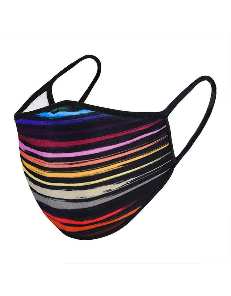 Urban X Apparel Face Mask Urbanx Adult Rainbow Stripe