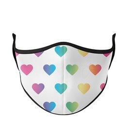 Face Mask Top Trenz 3+ Multi Heart