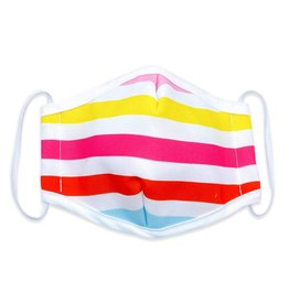 Woven Pear Face Mask Woven Pear Adult  Beach Stripes