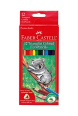 Faber-Castell 12ct Triangular Colored EcoPencils 3+