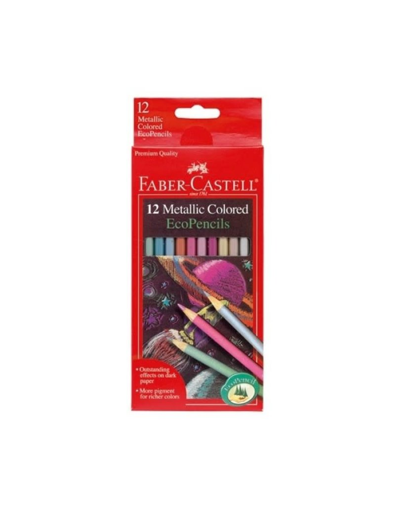 Faber-Castell 12ct Metallic Colored EcoPencils 3+