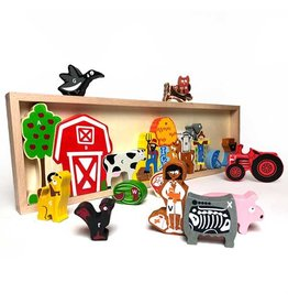BeginAgain Farm A to Z Puzzle and Playset 3+