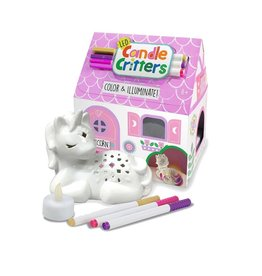 Bright Stripes LED Candle Critters - Unicorn