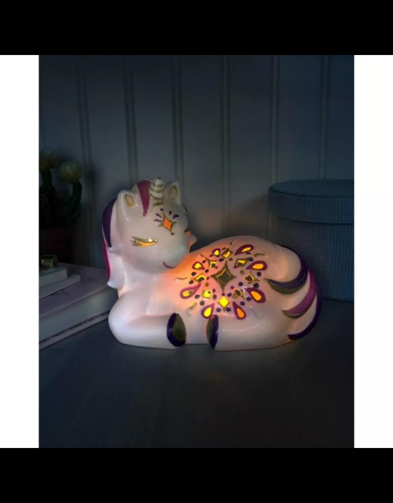 Bright Stripes LED Candle Critters - Unicorn