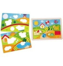 Hape HAPE Sunny Valley Puzzle 3 in 1 2+