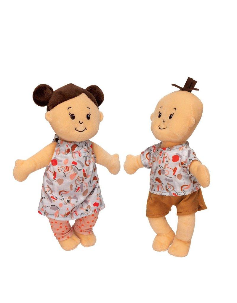 Wee Baby Stella Twins Beige w/ Brown Hair 1+