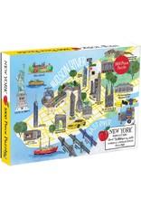 Galison New York City Map Puzzle 1000 pcs