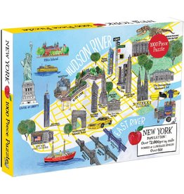 Galison New York City Map Puzzle 1000 pcs