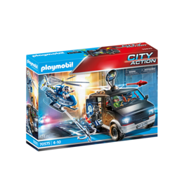 Playmobil Helicopter Pursuit with Runaway Van 4+