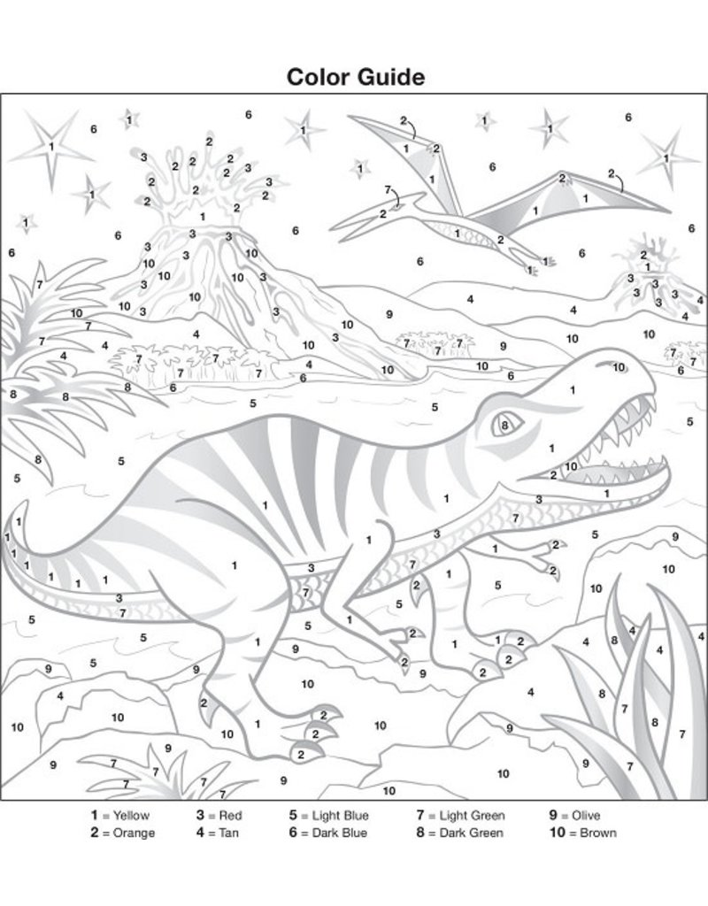 Creativity for Kids Color by Number T-Rex Foil 6+
