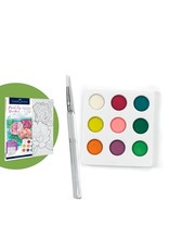 Faber-Castell Paint By Number Watercolor Flowers Bold Floral