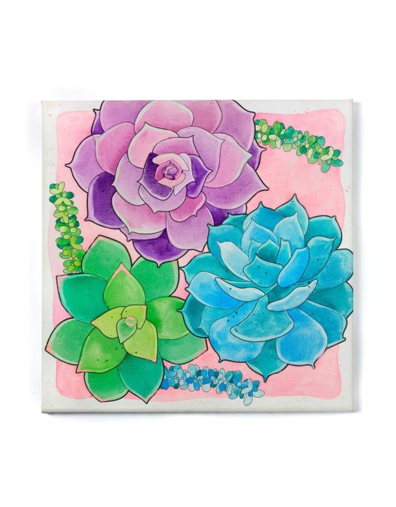 Faber-Castell Paint By Number Watercolor Flowers Succulents
