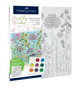 Faber-Castell Paint By Number Watercolor Flowers Farm House