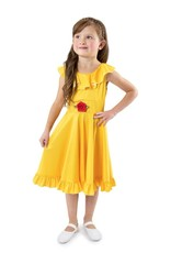 Little Adventures Yellow Beauty Twirl Dress